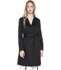 casaco trench coat calvin klein jeans cinto preto - preto - feminino - algodã£o - dafiti