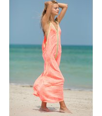 pitusa inca maxi sun dress watermelon