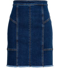 alexander mcqueen denim skirt with back zip