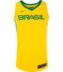 camisa regata nike brasil jsy limited - masculina - amarelo/verde