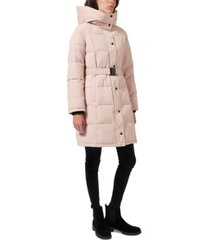 sam edelman hooded belted puffer coat