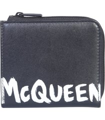alexander mcqueen wallet with logo