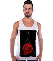 regata corvuz red rose cinza claro mescla - cinza - masculino - algodã£o - dafiti