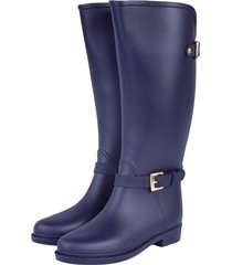 botas de lluvia impermeable eternity twin buckle bottplie - azul navy