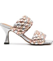 paul warmer braided-strap sandals - silver