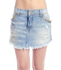 minissaia jeans destroyed colcci