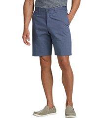 joseph abboud blue cotton and linen modern fit shorts