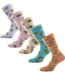 womens 5 pack fast food socks