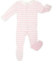 earth baby outfitters baby girls organic bamboo footie