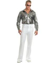 buyseasons men's silver nail head disco shirt