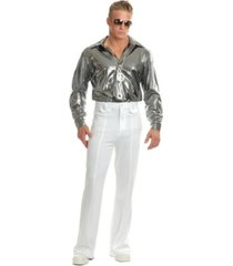 buyseasons men's silver nail head disco shirt