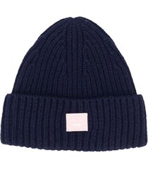 acne studios kids gorro mini pansy n face - azul
