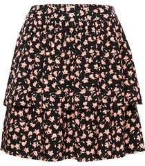 benna beach skirt aop kort kjol svart moss copenhagen