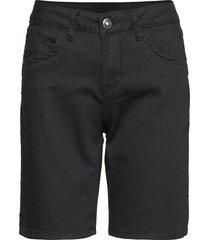 vita capri twill short - regular fi bermudashorts shorts svart cream