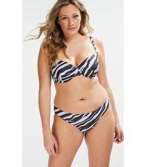 hunkemöller rio zebra bikini-underdel svart