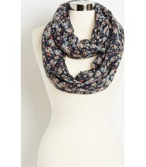 maurices womens blue floral infinity scarf