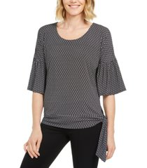 jm collection tie-hem printed top, created for macy's