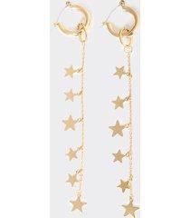 motivi orecchini lunghi con stelle donna giallo