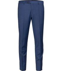 denz trousers kostuumbroek formele broek blauw oscar jacobson