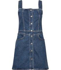 button down tank dress kort klänning blå calvin klein jeans