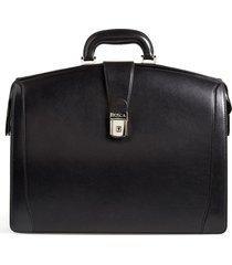 men's bosca triple compartment leather briefcase - black