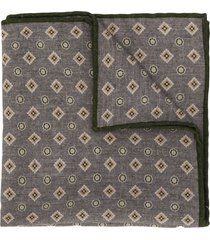 eleventy diamond-pattern scarf - grey