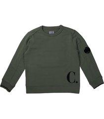 c.p. company sage green crew neck sweatshirt