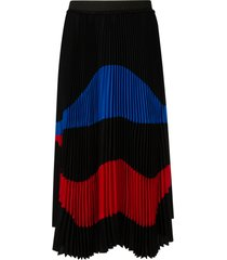 n.21 pleated printed skirt