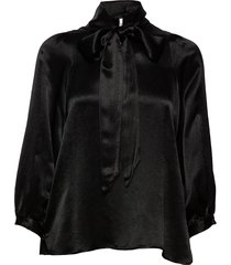 moonlight ls blouse blouse lange mouwen zwart second female