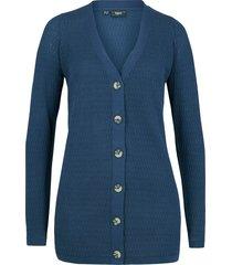cardigan in maglia traforata (blu) - bpc bonprix collection