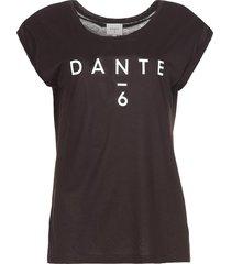 t-shirt met logoprint ravia  zwart