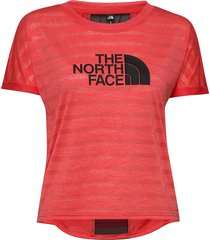 w varuna tee t-shirts & tops short-sleeved röd the north face