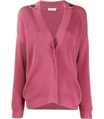 brunello cucinelli slouchy cotton cardigan - pink