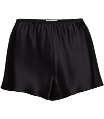pure silk - french knickers shorts svart lady avenue