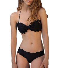 bikini admas 2-delige riviera zwarte bandeau bikiniset adma's