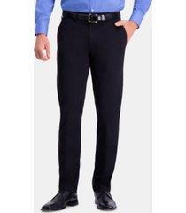 haggar men's premium comfort khaki slim-fit 2-way stretch wrinkle-resistant flat-front casual pants