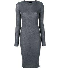 cashmere in love tiera fine knit dress - grey