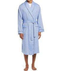 men's majestic international 'signature' cotton robe, size large/x-large - blue