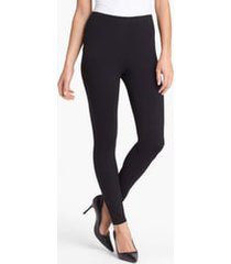women's eileen fisher stretch ankle leggings, size xx-small - black