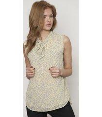 blusa sin mangas con lazada amarilla 609 seisceronueve