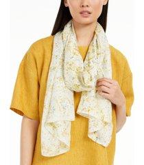 eileen fisher floral-print silk scarft