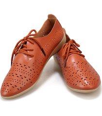 scarpe piatte in pelle da donna scava fuori scarpe casual donna soft mocassini con lacci