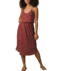 women's prana ayla racerback dress, size medium - red