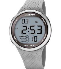reloj color run gris calypso