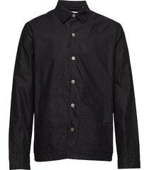 out jacket crew cut logo överskjorta svart cheap monday