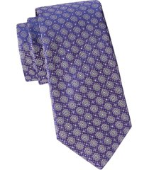 eton men's floral silk tie - purple