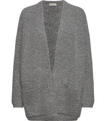 belinta stickad tröja cardigan grå by malene birger