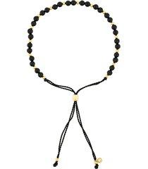 astley clarke beaded skinny bracelet - black
