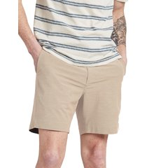 men's faherty all day 7-inch shorts, size 40 - brown