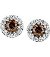 le vian chocolatier diamond stud earrings (1 ct. t.w.) in 14k white gold